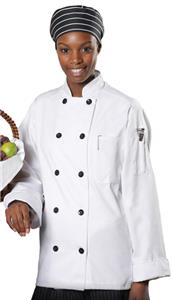 Edwards Unisex Ten Black Button Full Cut Chef Coat