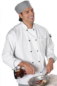 Edwards Unisex Ten Black Knot Button Chef Coat
