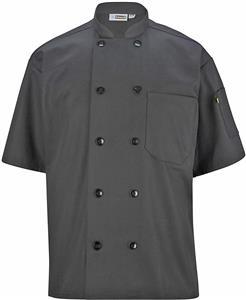 Edwards Unisex Ten Button Short Sleeve Chef Coat