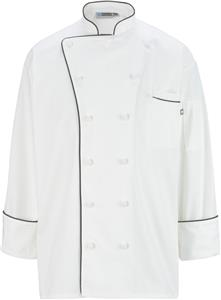 Edwards Unisex 12 Cloth Button Chef Coat
