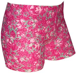 Spandex 4&quot; Sports Shorts - Tuga Pink Print