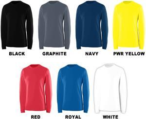 Augusta Sportswear EXA Long Sleeve Crew Shirt