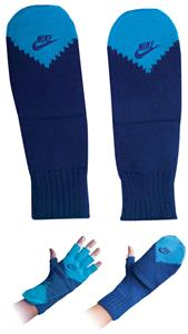NIKE Metro Series Fingerless Glove/Mitten Blue