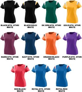 Augusta Sportswear Jr Fit Rush Tees