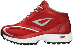 3n2 Momentum Trainer Mid Softball Shoes Red