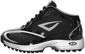 Momentum Trainer Mid Softball Shoes Black Patent