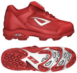 3n2 Rookie Youth Softball Baseball Cleats Red