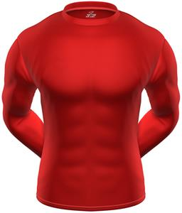 3n2 KZONE Cool Long Sleeve Shirt Tight Fit Red