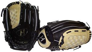 M Powered Black/Ivory Platinum Basket Web Glove
