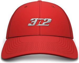 3n2 Flex-Fit 6 Panel Baseball Cap Red/Silver