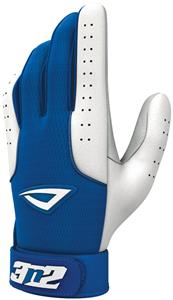 3n2 Sheepskin Leather Pro Bat Gloves Royal/White