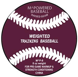 M Powered 8 oz. Weighted Training Baseball (Dozen)