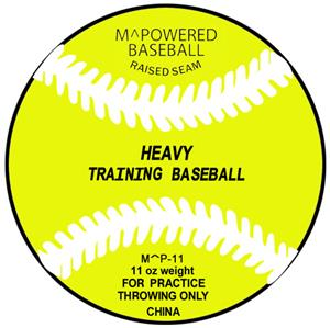 M Powered 11 oz.Weighted Training Baseball (Dozen)