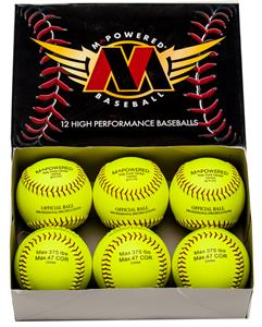 M Powered 777 Optic Yellow Softball (Dozen)