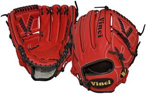 Vinci 11.75 Red Infield 2-Piece Web Baseball Glove