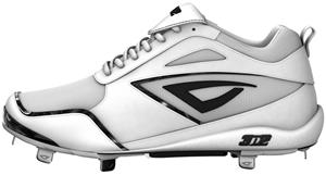 3n2 Women's Rally Fastpitch Metal Cleats White