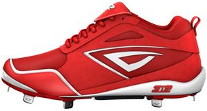 3n2 Women's Rally Fastpitch Metal Cleats Red