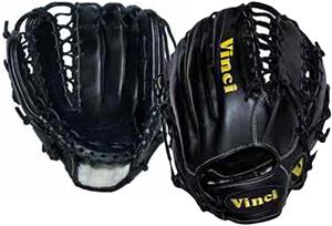Vinci 12.75&quot; Black Fielders Baseball Glove