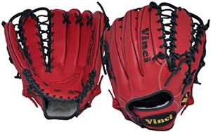 "Vinci 12.75"" Red Fielders Baseball Glove"