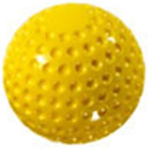 "M Powered 12"" Yellow Dimple Softball (Dozen)"