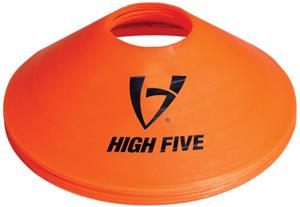 High Five Orange Disc Saucer Cones Field Markers