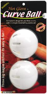 Unique Sports Hot Glove Plastic Curve Baseballs