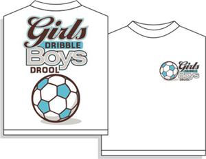 Girls Dribble soccer tshirt