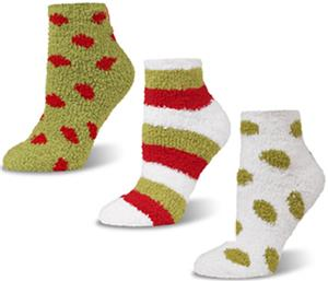 World's Softest Cozy Spa Quarter Holiday Socks