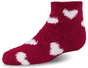 World's Softest Youth Cozy Spa 1/4 Heart Socks 6PR