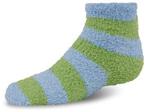 World's Softest Yth Cozy Spa Qtr Stripe Socks 6PR