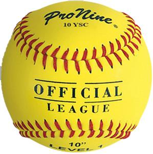 Pro Nine Official League Yellow Softballs (DZ)