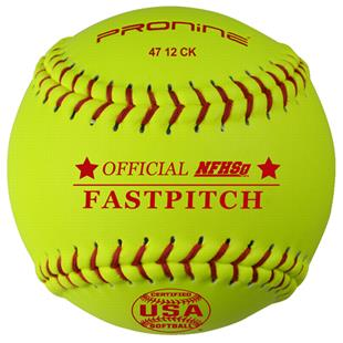 "Pro Nine Leather Cover 12"" Fastpitch Softball (DZ)"