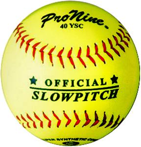 Pro Nine Official Yellow Slowpitch Softball (DZ)