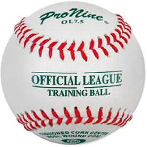 "Pro Nine 7.5"" White Training Ball Baseballs (DZ)"