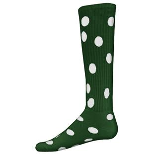 Red Lion Dots Knee High Athletic Socks