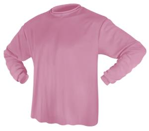 Game Gear LS Solid Pink Performance Tech Shirts