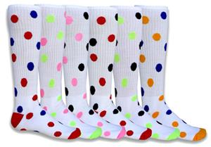 Red Lion Two Color Dot-Spots Athletic Socks