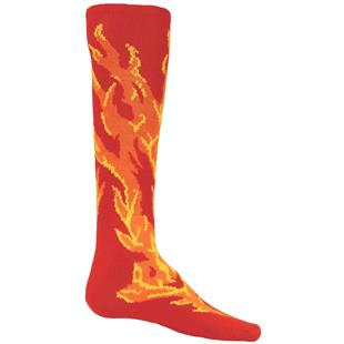 Red Lion Flame Over-the-Calf Knee High Socks