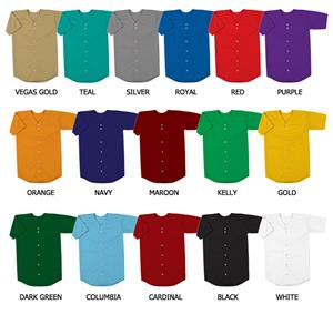 Baseball Double Knit Poly Jersey with Sleeves