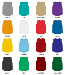 Baseball Double Knit Poly Sleeveless Jersey