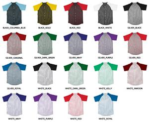 Baseball Full Button Jersey with Raglan Sleeves