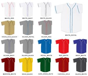Baseball Double Knit Poly Jersey with Soutache