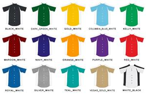 Baseball Full Button Double Knit Jersey w/Sleeves