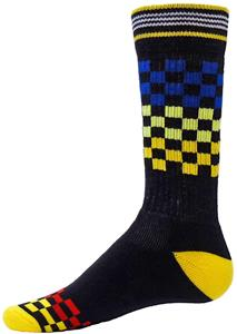 Red Lion Multi-Checkerboard Athletic Socks - C/O