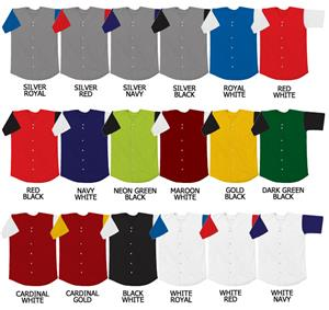 Baseball Double Knit Jersey w/Contrasting Sleeves