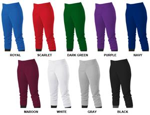 Alleson 605PLW Women Girls Low Rise Softball Pants