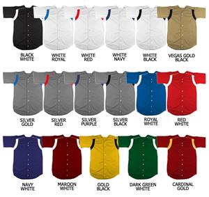 Baseball Pro-Style Double Knit Poly Jersey