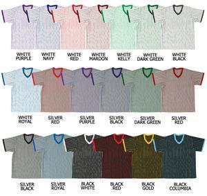 Baseball V-Neck Pullover Jersey w/Pinstripes