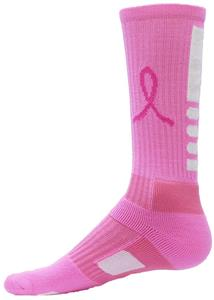 Red Lion Legend PINK Ribbon Basketball Crew Socks