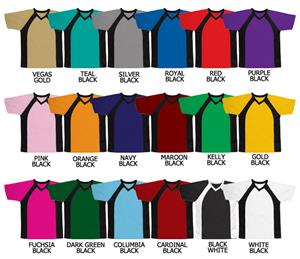 Soccer V-Neck Dazzle Cloth Jersey Neck &amp; Arm Trim